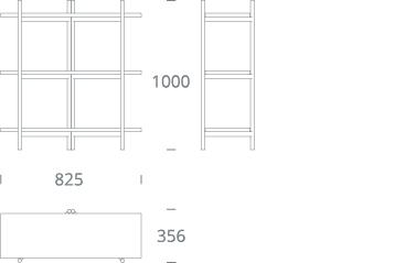 BRERA shelving unit - single - drawing