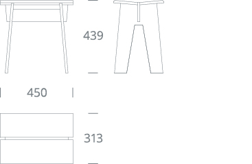 LAPIS-01 stool - drawing