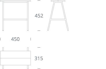 MARA stool - drawing