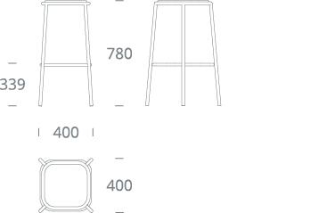 PARC bar stool - drawing