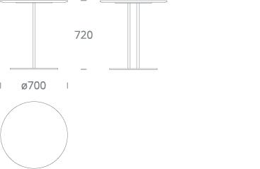 PLATOU bistro table - drawing