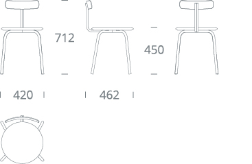 SHAW chair - drawing